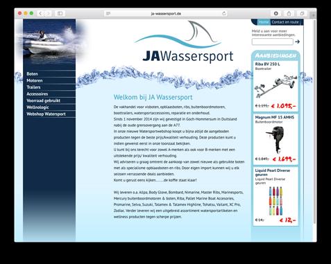 Website JA Wassersport