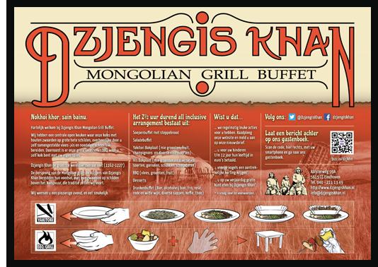 Placemat Dzjengis Khan